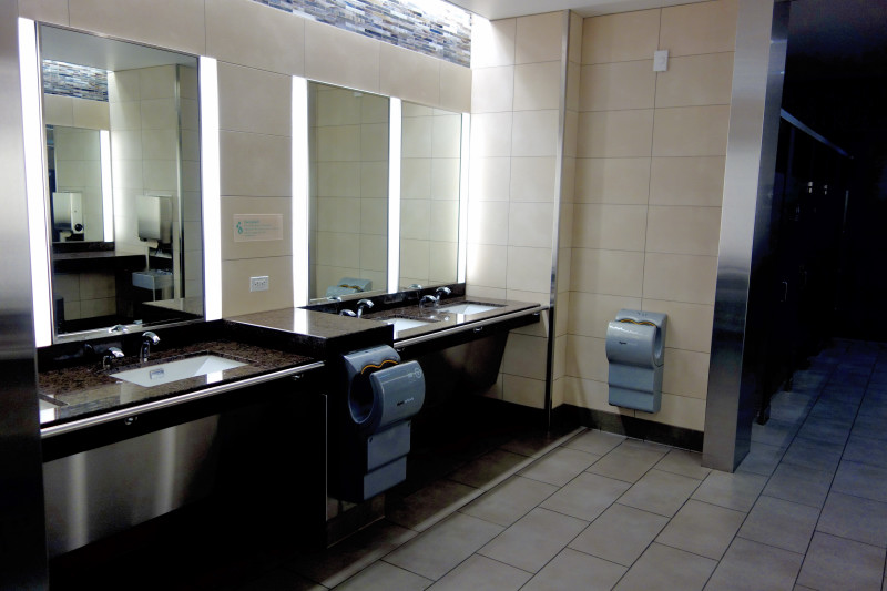 Sober, classy washrooms at SFO Terminal 2