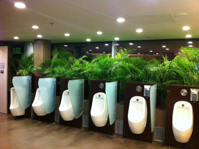 Airport washrooms - Changi style